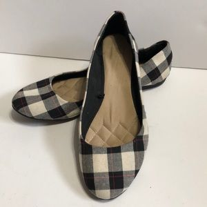 Basic Editions Tanner Plaid Ballet Flats